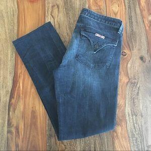 Hudson Jeans Flap Dark Wash Straight Leg Size 29